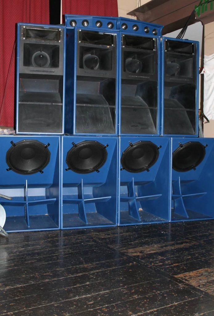 The Pick 'n' Mix speaker stack.