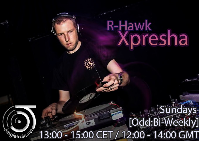 R-Hawk at the controls of his internet radio show.